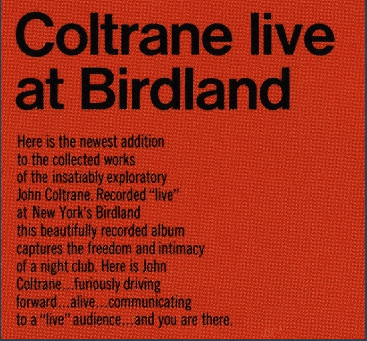 Birdland Back Cover
