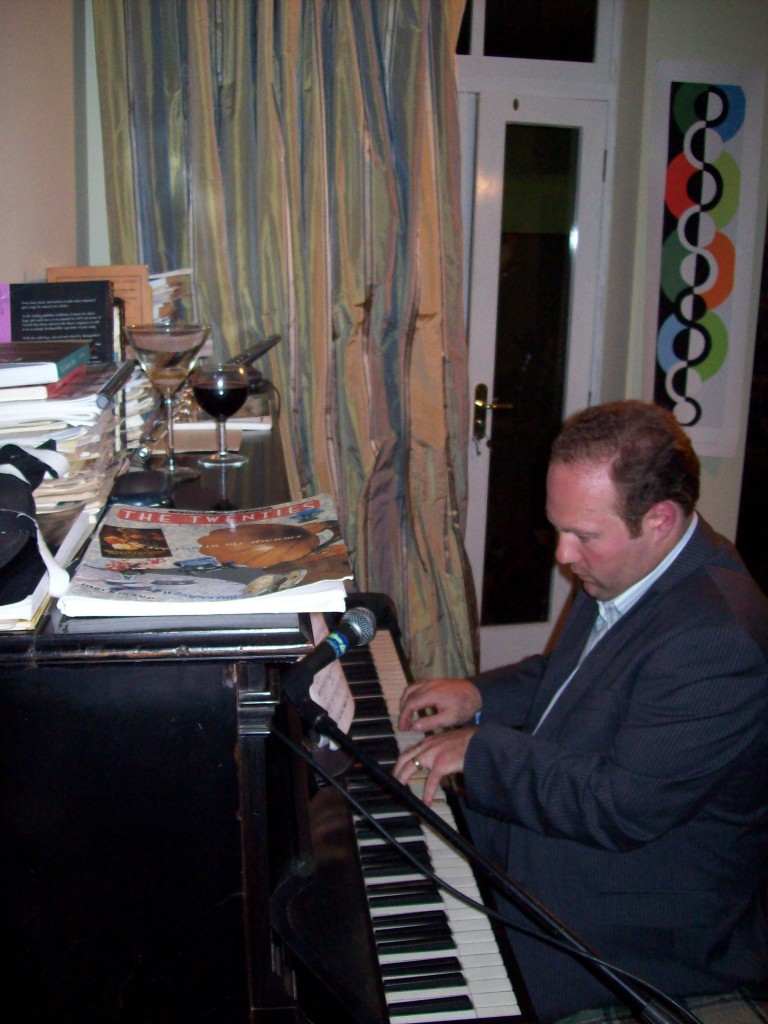 J Playing Piano